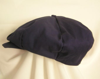 Boys Navy Blue Twill (lightweight) Newsboy hat