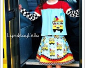 Wheels on the Bus Back to School Skirt Set SUGAR3 TEAM