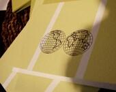 globe folded notecards set (10)