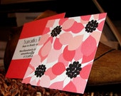 pink poppies double sided calling card