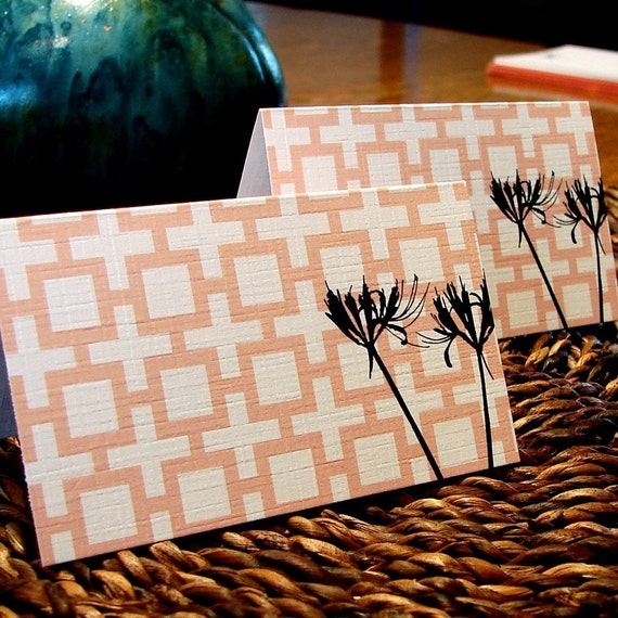 modern square placecards - set (12)