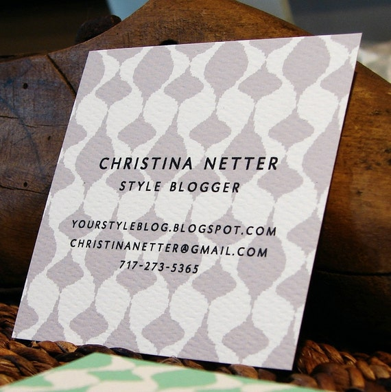 one-sided solid ikat calling cards - set (50)