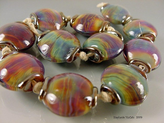 Handmade lampwork glass beads---RIVENDELL-made to order--- SRA
