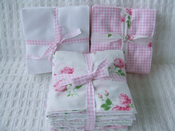 Complete Baby Rag Quilt Kit Vintage Chenille Bedspread And