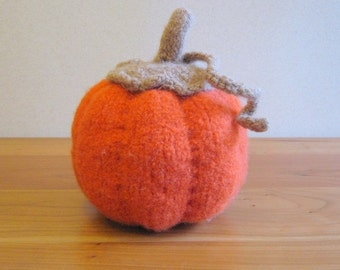 Handknit Pumpkin, Thanksgiving Decor, Halloween Decor, Fall Decor