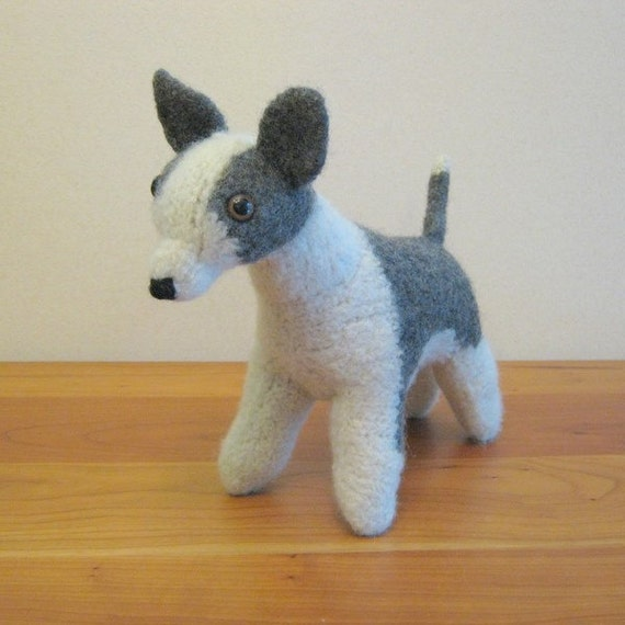 Chihuahua, Stuffed Animal. Dog, children, toy, plush, wool, felted. Handmade Stuffed Animals by FeltedFriends on Etsy