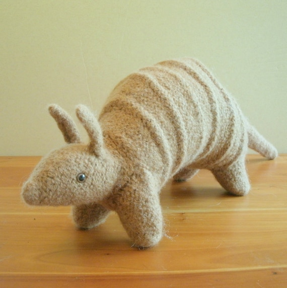Handmade Armadillo, Stuffed Animal, Children, Toy, Texas. FeltedFriends on Etsy