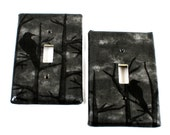 Switch Plate - Raven Wood - Goth - Gothic -  Dark Home Decor - Single Switch - Unique - Gifts under 10