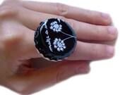 Make A Wish Dandelion Painted Bottle Cap Big Ring