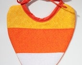 CANDY CORN Baby Bib  great for Halloween and Thanksgiving