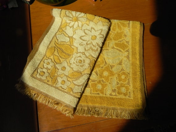 Two vintage hand towels