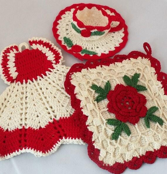 Crochet Dress Potholder Pattern Interior