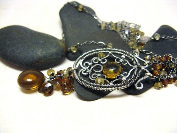 Mampong - Sterling silver and gemstone necklace
