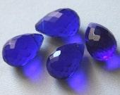 30 pcs ---- Extra Large ---- Blue Glass quartz faceted briolette beads 16X25mm