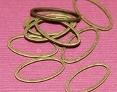 50 pcs of Antiqued brass oval links 16X8X1mm