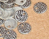 100 pcs of antiqued silver-plated brass coin 7mm