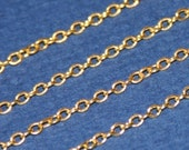 10 ft of Gold plated Brass round cable chain 2X2.5mm