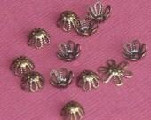 WHOLESALE ------- 1000 pcs of antique brass flower beadcap 7mm