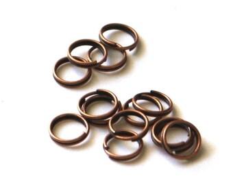 Wholesale   1000 pcs of antiqued copper split rings 8mm