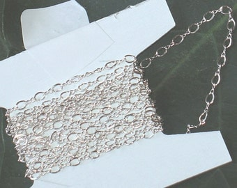 5 ft of sterling silver flat figure-eight chain 3.5x2.25mm