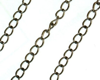 10 ft of Antiqued Gunmetal finish Curb Chain3.2mm