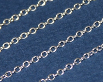 10 ft of Silver plated Brass round cable chain 2X2.5mm