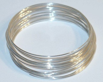 5ft ------------ of 24G Sterling Silver round wire Half-Hard