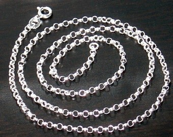 18 inch of  Sterling Silver Rollo Chain 2.4mm
