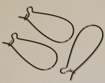 100 of Gunmetal Kidney earwire  33X14mm