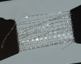 SALE--------------4ft of Sterling Silver tiny cable chain  1.2x0.4mm