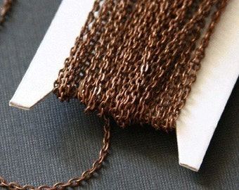 Special Deal 45 ft of Antiqued Copper over iron flat cable chain 2X3mm - unsoldered