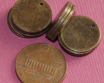 25 pcs of Antique brass coin disc 15mm 1mm thick