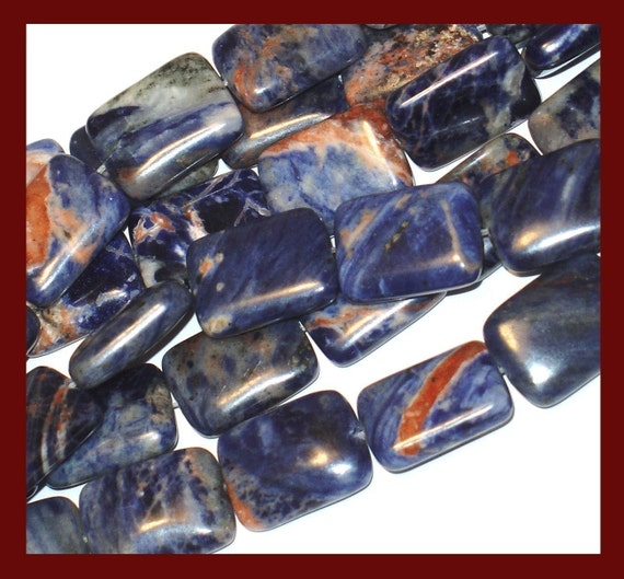 16 inches strand of Sodalite Rectangle 13x18mm