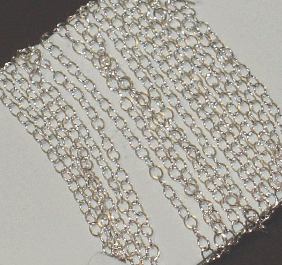 8ft of Sterling Silver cable chain 1.3mm