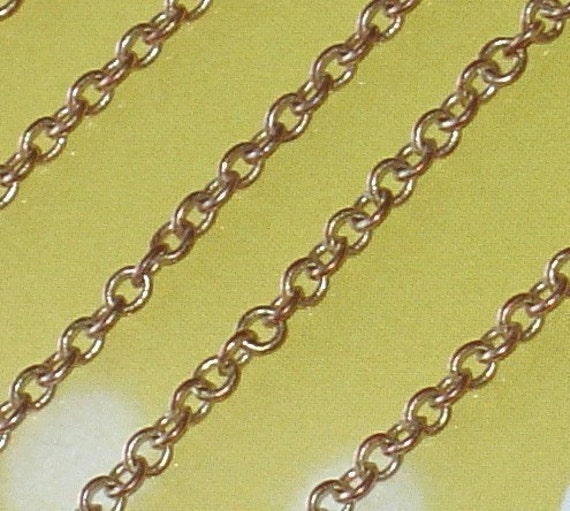 10 ft of  Copper plated soldered cable chain 2.1mm