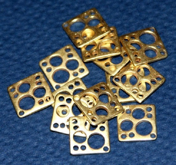 10 pcs of Raw Solid Brass square  link 10mm