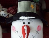 Primitive/ Whimsical Snowman Shelf Sitter