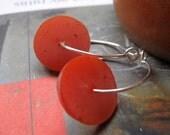 Burnt Orange Resin Hoop Earrings - ABstraKT Series