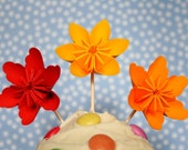 RESERVED - 48 Millalove Paper Flower Cupcake Toppers
