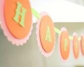 Reserved for Abnous - Custom HOPPY Birthday Banner