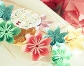 12 Flower Cupcake Toppers ' Spring Celebration '