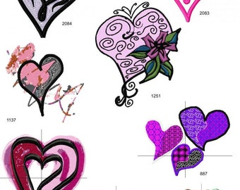 Love Hearts Set of 8 Machine Embroidery Designs  by LetZRocK