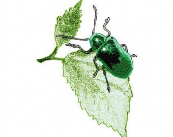 Bug on a Leaf  Machine Embroidery Designs...2142