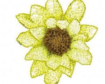 Sun Flower Letzrock Machine Embroidery Designs...2173