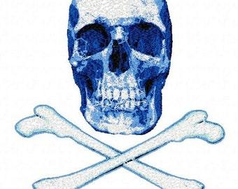 Letzrock Machine Embroidery Designs...2289 Skull and Bones