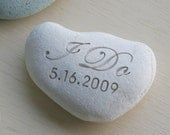 Wedding stone - I DO Oathing Stone - Wedding Vow, Anniversary, Ceremony - Double sided engraved wedding stone by sjEngraving