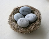 Mothers nest gift - 4 personalized names - Family, mom, grandma ...