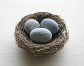 Gift for mom, grandma, sister, sister in law or family ... - set of one nest with 3 eggs