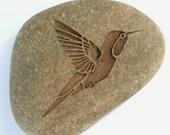 Hummingbird Stone Talisman - Home decor stone paperweight