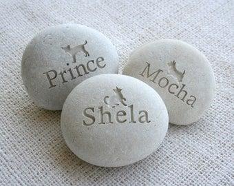 Companion Stone - Pet tribute on beach stone by sjEngraving